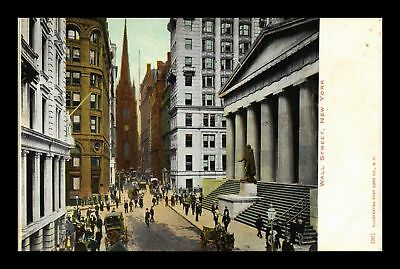 Dr Jim Stamps Us Wall Street New York City View Postcard