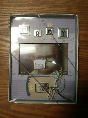 *NIB* Baby Picture Frame by Malden / 4x6 / Silver Accent VERY NICE / Keepsake