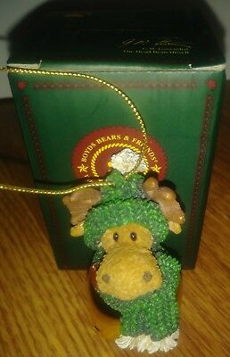 Boyds Bears & Friends Bearstone, Brass Jingle Bell Christmas Ornament Moose Only