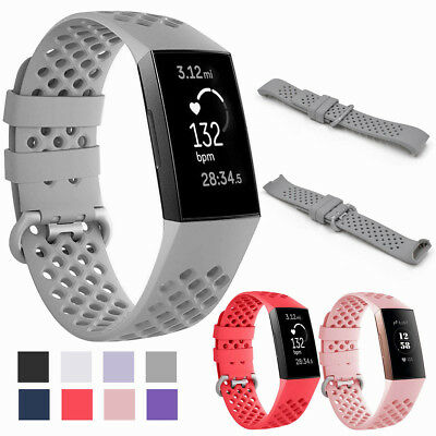 For Fitbit Charge 3 Replacement Sports Watch Band Soft Silicone Straps Wristband