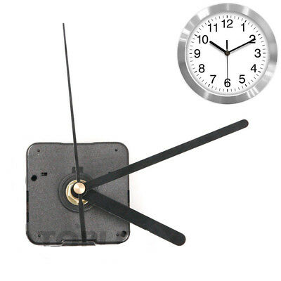 Black Wall Clock Quartz Movement Mechanism Battery Operated DIY Repairarts Kit