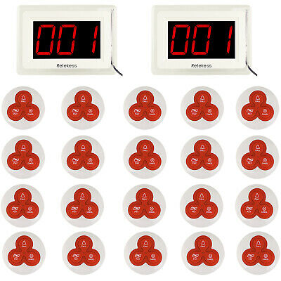 Restaurant Equiment Wireless Call Paging Queuing System Transmitter&10*Pager UK