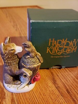 Retired Harmony Kingdom Peace Summit New in box card and booklet Wolf Beaver
