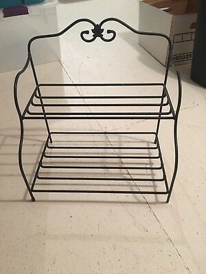 Longaberger Wrought Iron Small Baker's Rack Stand NICE