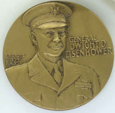 Gen. Dwight D. Eisenhower - Normandy Invasion Commemorative Bronze Metal