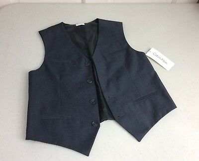 CALVIN KLEIN Tuxedo Suit Vest Youth 10-12 NEW