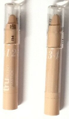LOT OF 2 Covergirl Trublend Fixstick Concealer L1 2 3 4 Fair-- FREE SHIPPING!!!!