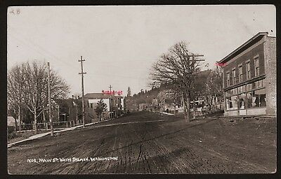 Old Photo Postcard,RPPC,Street View,Hotel,White Salmon,Washington,Columbia River