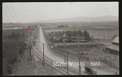 Old Photo Postcard,RPPC,Touring Car,Selah,Wenas Road,Washington,nr Yakima,Ca1910