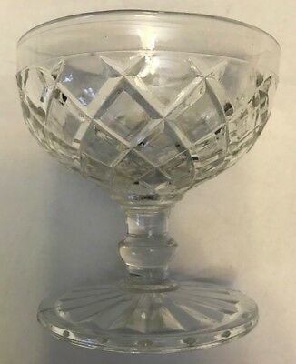 Waterford Crystal Sherbet or Champagne Glasses and Saucers Waffle Pattern