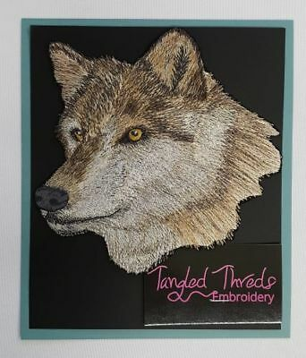 """Wolf Head, Wolves, Embroidered Patch 6.4""""x 6.5"""""""