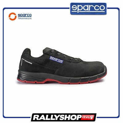 SPARCO CHALLENGE shoes Racing Boots Race Leather Rally Mechanics S1P Black