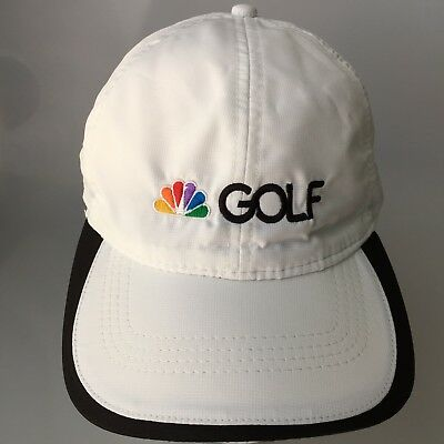 acf12c38260 NBC Golf Cap Hat Pacific Headwear Lite Adjustable Size White Running  Baseball