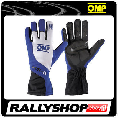 OMP KS-3 Gloves, size 5, Blue, Karting non-slip Kart Rally Race Driving Comfort