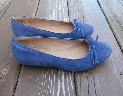 f971748f4 CLARKS INDIGO women s shoes blue suede leather ballet flats SIZE 6.5 M NICE!