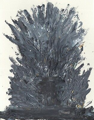 Iron Throne GoT Game of Thrones Unique Unusual Abstract Pop Wall Art Painting