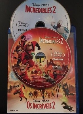 The Incredibles 2 BLURAY 2D discs viewed once