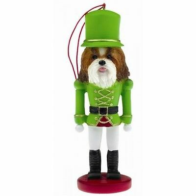 Shih Tzu Tan Dog Toy Soldier Nutcracker Christmas Ornament