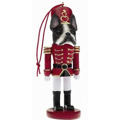 Boston Terrier Dog Toy Soldier Nutcracker Christmas Ornament