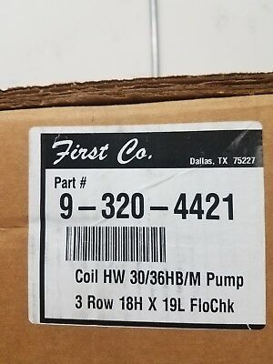First Company Hot Water Coil With Pump 9-320-4421