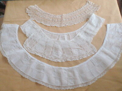 Antique Handmade Lace Collars and Trim