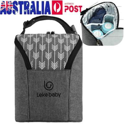 AU! Baby Thermal Feeding Insulation Bottle Warmers Mummy Tote Bag Hang Stroller