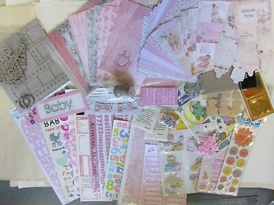 Baby Girl Scrapbooking Pack - Craft Board Album plus more