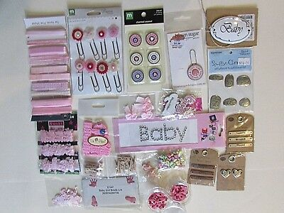 Baby Girl Scrapbooking Embellishments