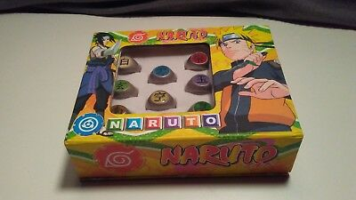 Vintage 2009 Naruto Limited Edition 10 Rings Box japan anime cosplay figure toy