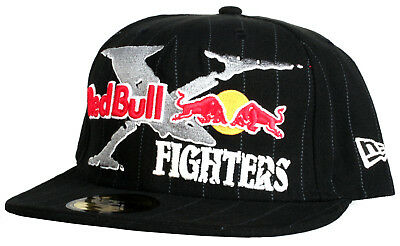 f18e649a772f3 Red Bull X Fighters FOX Black Pinstripe New Era 59Fifty Fitted Hat - Size 7  1