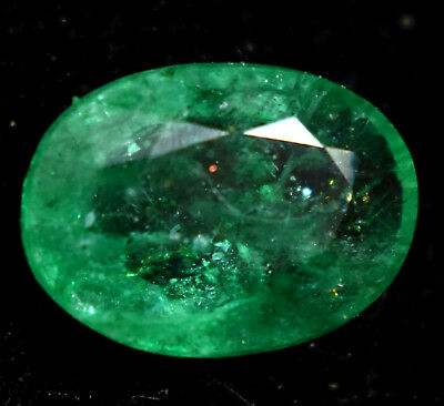 Loose Gem Stone 3.99 Ct Natural Green Colombian Emerald AGSL Certified Oval