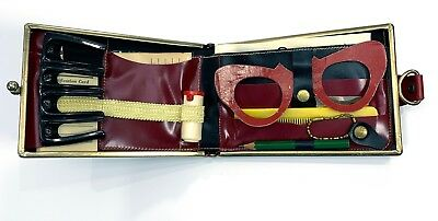 RARE! Vintage Laurita Red Ladies Wallet Carryall Coin Purse Bifold Clasp