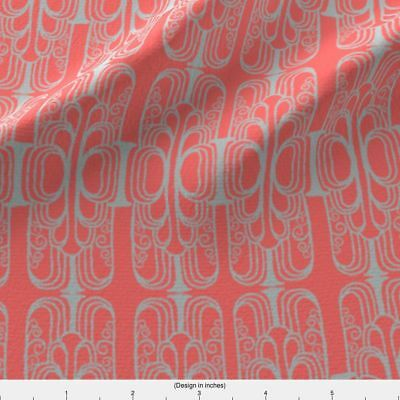 Deco Art Deco Arches Architecture Fabric Printed by Spoonflower BTY