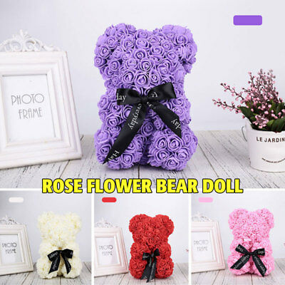 Rose Bear Toys Women Girls Flower Birthday Mother's Day Wedding Party Doll Gifts