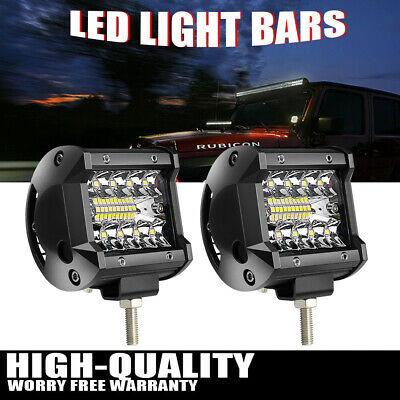 2X 3inch 18W Led Work Light Pods SPOT Cube Offroad Fog Lamp SUV ATV 4WD Jeep 12V