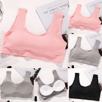 Women Seamless Sports Style Bras Crop Top Vest Comfort Stretch Shapewear Bra