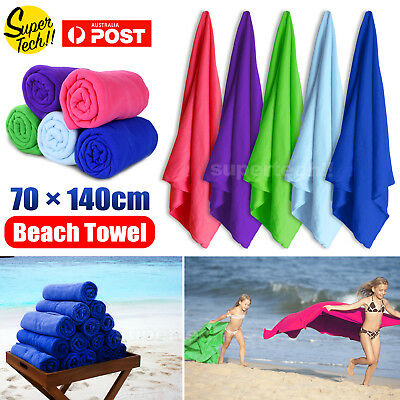 70x140cm Microfiber Towel Gym Sport Footy Travel Camping Swimming Drying AU STOC