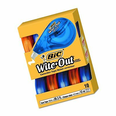 Fast shipping BIC Wite-Out Brand EZ Correct Correction Tape, White, 10-Count