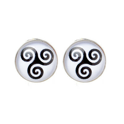 1Pair of Teen Wolf Inspired Triskele Symbol Earring Studs Jewelry Birthday Gift