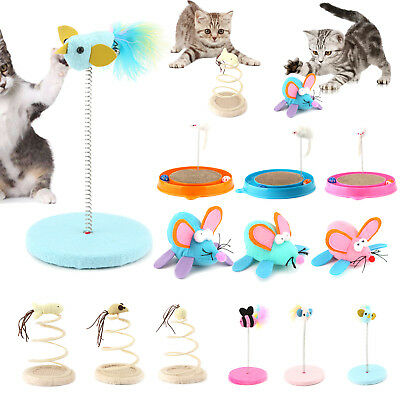 Cat Toys Spring Rod Amusement Multifunction Play Activity Pet Funny Cute Toys