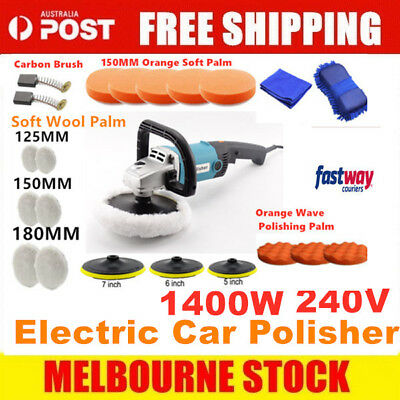 Polisher Car Buffer 180mm 150mm Sander Electric Tools kit 6 Speed 1400W 240V NEW