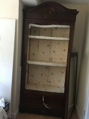 French armoire / linen cabinet with mirror on door