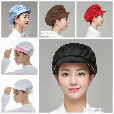 Cook Men Women Elastic Kitchen Baker Chef Cap Dustproof Hat Catering 10 Colors