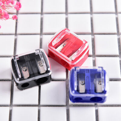 Precision Makeup Cosmetic Pencil Sharpener Eyebrow Lip Liner Eyeliner 2 Holes、FR