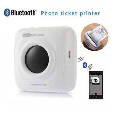 Mini Instant Printer Bluetooth4.0 Wireless Thermal Photo Printer For Android IOS