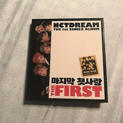 nct dream the first album + NO PHOTOCARD + CD + PHOTOBOOK INCLUDED