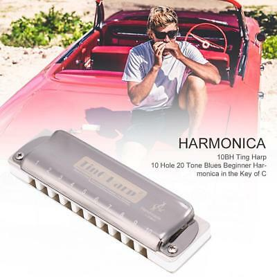 Blues Harmonica In the Key of C Mouth Organ 10 Holes 20 Tones Musical Instrument