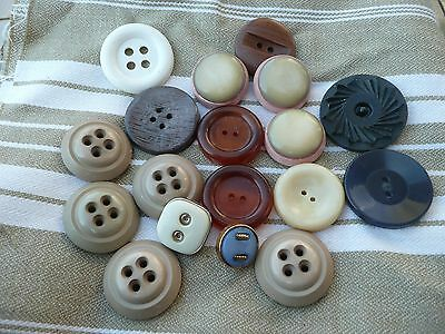 18 boutons  anciens vintage