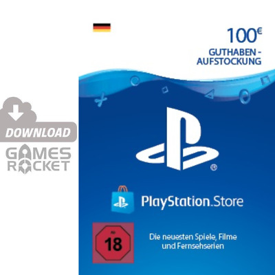 100€ PSN DE Playstation Network Code Card 2x 50 Euro € EUR | PS4, Vita Guthaben