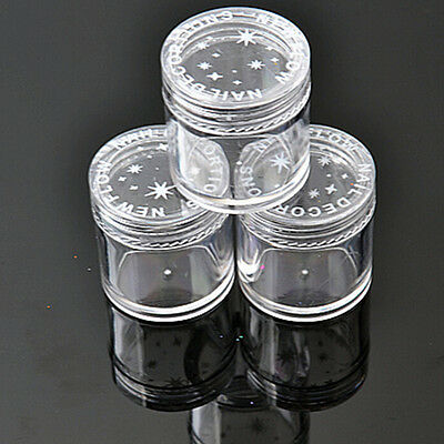 10x Plastic  Clear Empty Nail Art Storage Box Rhinestone Bead Container Great IO